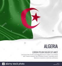 Algerian Flag Algeria Flag Silky Flag Of Algeria Waving On An Isolated White