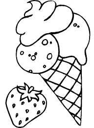 strawberry ice cream coloring pages foods coloring pages of
