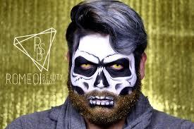 Halloween Makeup Male Glitter Beard Skull Youtube