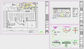 floor plan genie plan autocad de l installation de la plomberie d un supermarché dxf