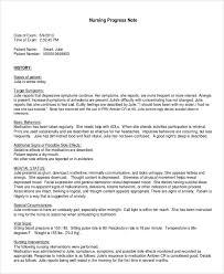 sample progress note 7 documents in pdf word