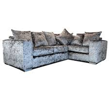 grey l shaped sofa bed crushed velvet corner sofa grey fabric l shaped sofa as right hand