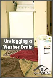 how to unclog my sink unclogging a washer drain