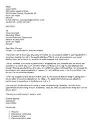 Cover Letter For Chartered Accountant Accounting Auditor Cover Letter