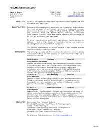 sle resume for experienced php developer free download web designer skills resume template templat website design exle
