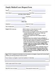 Sample Letter For Medical Leave Application 29 Leave Request Form In Pdf