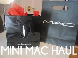 mini mac haul try on swatches free sephora birthday gift