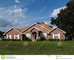 one story one story brick residential home royalty free stock photography