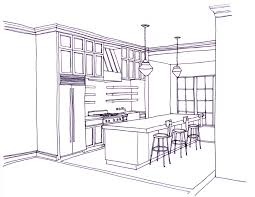 extraordinary kitchen sketch in new beaux arts kitchen rendering
