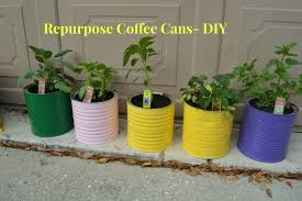 how to repurpose coffee can tins diy tutorial youtube