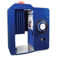photo booth the instant post photo booth hammacher schlemmer