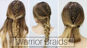 whats new in braided hair styles 3 easy warrior braids dirty hair styles youtube