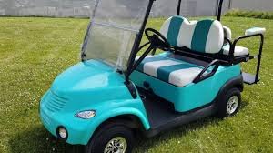 pt cruiser teal 48v club car precedent golf cart with ss wheels