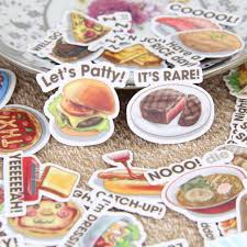 scrapbooking cuisine 40pcs food words scrapbooking stickers diy craft