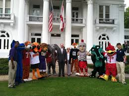 bentley college mascots join ala governor to promote colors day alabama public