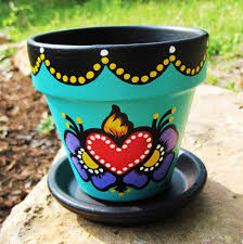 how to seal painted flower pots flower clay and craft