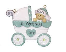 personalized baby girls 1st christmas ornament personalized