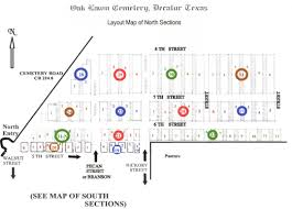 oaklawn cemetery layout maps wise county tx