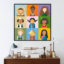 online buy wholesale india wall art from china india wall art modern world children print poster color chinese india africa kids wall art picture baby room decor