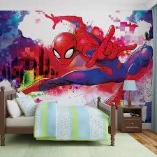 best 25 spiderman wall mural decorating design of custom 3d photo spiderman wall mural wall mural photo wallpaper xxl marvel spiderman 10608ws ebay