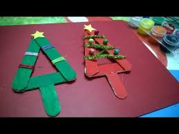 diy crafts popsicle stick tree ornament for kid