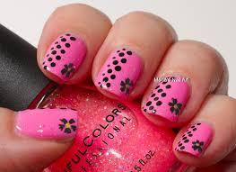marias nail art and polish blog pink glitter dots and the
