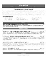 Resume For Forklift Operator Certified Heavy Equipment Operator Resume Example Vinodomia