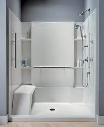 Bathroom Shower Inserts Best 25 One Shower Stall Ideas On Pinterest Within Bathroom