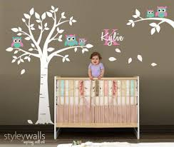 Tree Wall Decal For Nursery Owl Wall Decal Owls Tree Wall Decal Nursery Sticker Baby Room