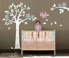 Nursery Wall Decal Owl Wall Decal Owls Tree Wall Decal Nursery Sticker Baby Room