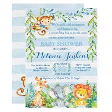jungle baby shower zazzle monkey baby shower invitations sempak f09506a5e502