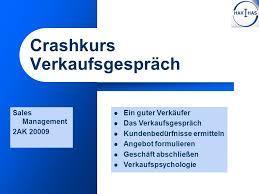 verkaufsgespr che f hren crashkurs verkaufsgespräch ppt herunterladen