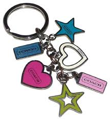 color key rings images Coach multi color multi mix charm hearts stars key ring fob key jpg