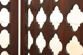 vintage four panel highly carved wood room divider screen at 1stdibs