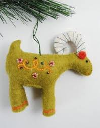 yule goat ornaments from felt scandinavia