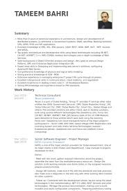 Sample Resume For Software Engineer Experienced by Technical Consultant Resume Samples Visualcv Resume Samples Database