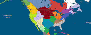 North America Map by Aesthetic North America Map No Straight Borders With A Victoria