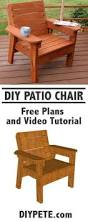Diy Wooden Deck Chairs by Diy Outdoor Patio Furniture Ideas U0026 Instructions Chair Bench