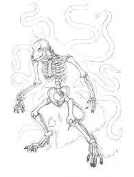 werewolf skeleton sketch by sabrekitty u2014 weasyl
