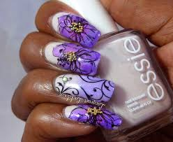 lacquer lockdown glazed spring flowers and swirls uberchic beauty