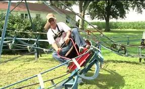 roller coaster for backyard indiana man turns backyard into mini roller coaster park aol finance