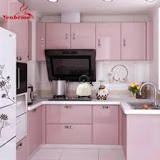 pink kitchen cabinets home decoration ideas