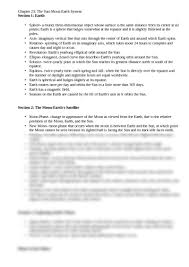 science study guide chapter 23 earth science with sabourin at