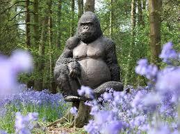 gorilla ornament bronzed resin