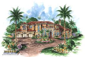spanish house plans mediterranean style greatroom courtyard escada home plan