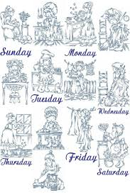 882 best days of week stitching images on pinterest embroidery