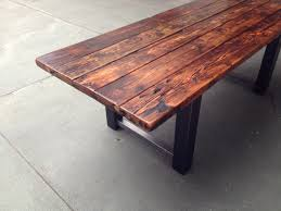 wood table reclaimed wood and steel dining table the coastal craftsman