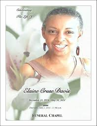 Samples Of Funeral Programs Funeral Programs Honor You Memorial Products