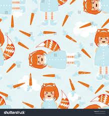 seamless vector pattern kawaii anime stock vector 393303004