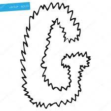hand drawing alphabet letter g in vector design u2014 stock vector